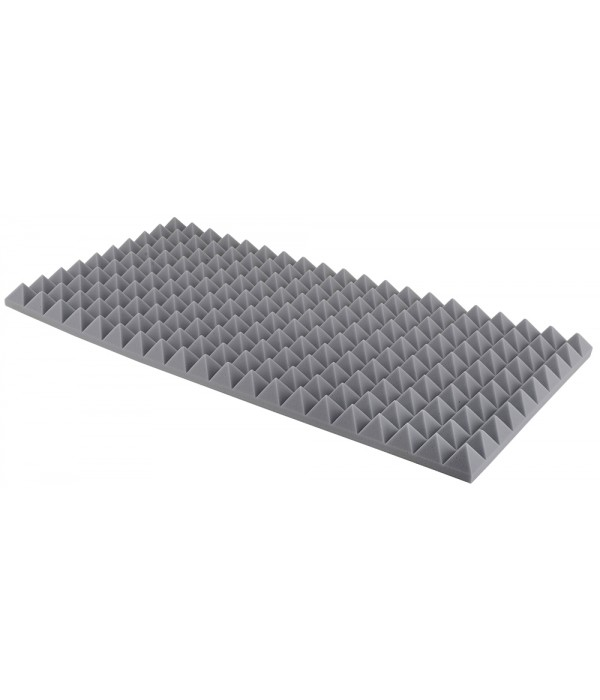 5 cm Sivá Akustická pena Basotect ® Pyramídová MH
